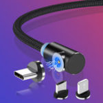 New TOPK 2.1A Magnetic Elbow Micro USB  Fast Charging Data Cable For Xiaomi HUAWEI Honor Android Phone