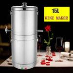 New 220V 15L Stainless Alcohol Multiple Cooking W-ine Distiller B-eer Maker Moonshine Ethanol Stainless Still Boiler Home Moonshine Boile Gifts