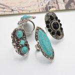 New Bohemian Retro Blue Turquoise Ring