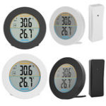 New Round ABS Wireless Sensor Home Use Digital Indoor Outdoor Thermometer Temperature Monitor Neutral LCD Display