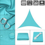 New 300D 160GSM Heavy Duty Sun Shade Sail Waterproof UV Garden Patio Awning Canopy Tent Sunshade Shelter Outdoor Camping