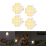 New  0.5W Light Sensor LED Night Wall Lamp Plug-in For Baby Kid Bedroom Home AC100-240V