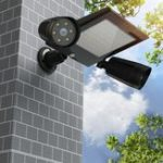 New Solar Powered 76 LED Triple Head PIR Motion Sensor Flood Light Spotlight Outdoor Garden Lamp