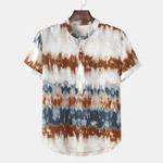 New Men's Summer Stand Collar Summer Casual Henley Shirts