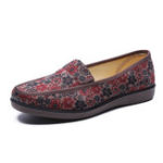 New Flower Cloth Women Shoes Casual Soft Flat Loafers