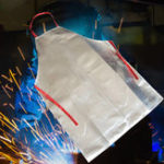 New Heat Resistant Work Apron 1000℃ Aluminum Fabric Safety Apron High Temperature Working Thermal Radiation Aluminized Aprons