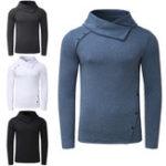 New MODCHOK Men's Long Sleeve T-Shirt Casual Collar Turtleneck Top Sweatshirt Cycling Running Sports Shirt
