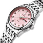 New WWOOR 8824 Diamonds Casual Style Calendar Ladies Wrist Watch