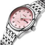 New WWOOR 8824 Diamonds Casual Style Calendar Ladies Wrist Watch