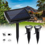 New Solar Powered Dual Spot Light Outdoor Garden Landscape Spotlight Yard Lawn Lamp