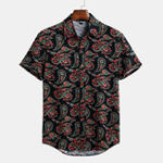 New Mens Floral Printed Summer Short Sleeve Hawaiian Shirts