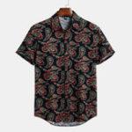 New Mens Floral Printed Summer Short Sleeve Hawaiian Shirts