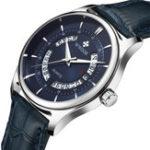 New WWOOR 8863 Business Style Leather Strap Men Wrist Watch