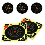 "New 50 Pack 8"" Bullseye Splatterburst Stick Splatter Adhesive Archery Shooting Target Paper"