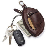 New GZCZ Genuine Leather Car Key Holder Key Bag