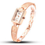 New SOXY 0123 Rose Gold Rectangle Dial Ladies Bracelet Watch