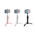 New 2 In 1 Extendable bluetooth Remote Control Selfie Stick Monopod Tripod for Smartphones Sport