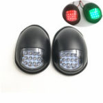 New 12V LED Waterproof Navigation Lights Black Cover Port Starboard Marine Boat Green+Red