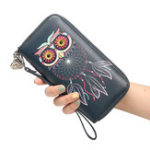 New Women Owl Phone Bag Long Wallet