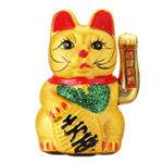 New Feng Shui Hand Waving Cat Gold Ceramics Maneki Neko Lucky Wealth Prosperity Decorations