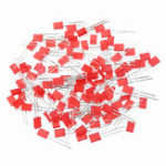 New 100pcs 2*5*7mm Square LED Red Light-emitting Diode 2X5X7 LED Diode