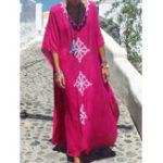 New Bohemian Floral Kaftan Maxi Dress