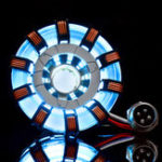 New MK2 Acrylic Remote Ver. Tony ARC Reactor Model DIY Kit USB Chest Lamp Remote Control Illuminant LED Flash Light Set