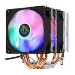 New 3 Pin Double Fans Four Heat Pipes Colorful LED Light CPU Cooling Fan Cooler Heatsink for AMD Intel