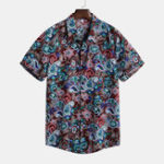 New Mens Vintage Summer Vacation Floral Printed Hawaiian Shirts
