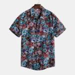 New Mens Vintage Summer Vacation Floral Printed Hawaiian Shirts