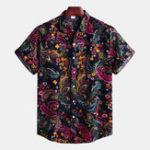 New Mens Summer Holiday Ethnic Printed Shirts