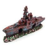 New Aquarium Destroyer Navy War Boat Ship Wreck Fish Tank Cave Decorations Ornament