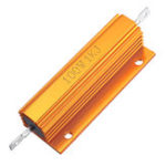 New RX24 100W 1KR 1KRJ Metal Aluminum Case High Power Resistor Golden Metal Shell Case Heatsink Resistance Resistor