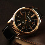 New KINGNUOUS 022 Casual Style Leather Strap Men Wrist Watch