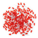 New 200pcs 5MM Red LED Diode Round Diffused Red Color Light Lamp F5 DIP Highlight
