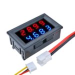 New 5pcs DC 100V 10A 0.28 Inch Mini Digital Voltmeter Ammeter 4 Bit 5 Wires Voltage Current Meter with LED Dual Display