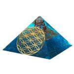 New Crystals Apatite Orgone Gemstone Pyramid Meditation Yoga Energy Generator Healing