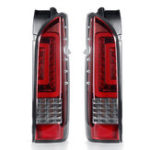 New Pair Red Lens Car Rear Tail Brake Light Turn Signal Lamps For TOYOTA HIACE 2005-2019