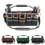 New Electrician Carry Steel Tote Handle Foldable Heavy Tool Bag Storage Pockets Box