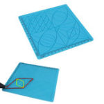 New C-Type Blue 3D Printing Pen Drawing Tools Silicone Design Mat with Basic Template + 2pcs Insulation Silicone Finger Caps Kit