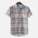 New Mens Funny Pattern Printed Ethnic Style Shirts
