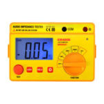 New ALL SUN EM480B Audio Impedance Tester Portable Insulation CATIII Test Ranges 20/200/2000 Resistance Meter 1KHz Timer Function Data Hold