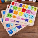 New Children Wooden Digital Letters Three-dimensional Jigsaw Puzzle Matching Game Shape Cognitive Blocks Toys
