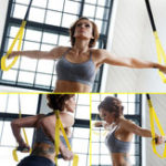 New Set TRX Yoga Fitness Resistance Bands Hanging Belt Suspensio