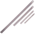 New BAOKE 1Pcs 15cm/20cm/30cm/50cm Stainless Steel Straight Ruler Double Scale Student Rulers Painting Drawing Measuring Tool School Office Supplies Stationery