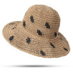 New Women Foldable Sunscreen Bucket Straw Hat