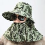 New Mens Cotton Mesh Breathable Face Protection Bucket Hat