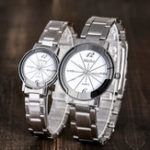 New Deffrun Casual Style Full Steel Men Women Quartz Watch