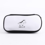New 1 Pcs Pencil Case Kawaii Black And White Cat zebra Pencil Case Lovely Waterproof PU Pencil Bags School Office Supplies Pencil Cases