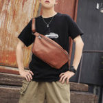 New Men Fashion Large Capacity Casual Chest Bag